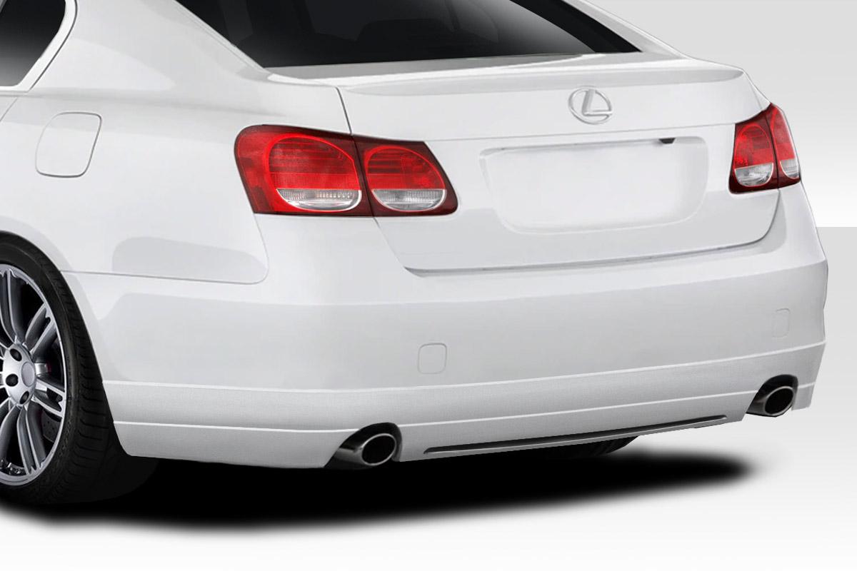 2009 Lexus GS 0 Rear Lip-Add On Body Kit - 2006-2007 Lexus GS Series GS300 GS350 GS430 GS450 GS460 Duraflex JPR Rear Lip Under Spoiler Air Dam - 1 Piece
