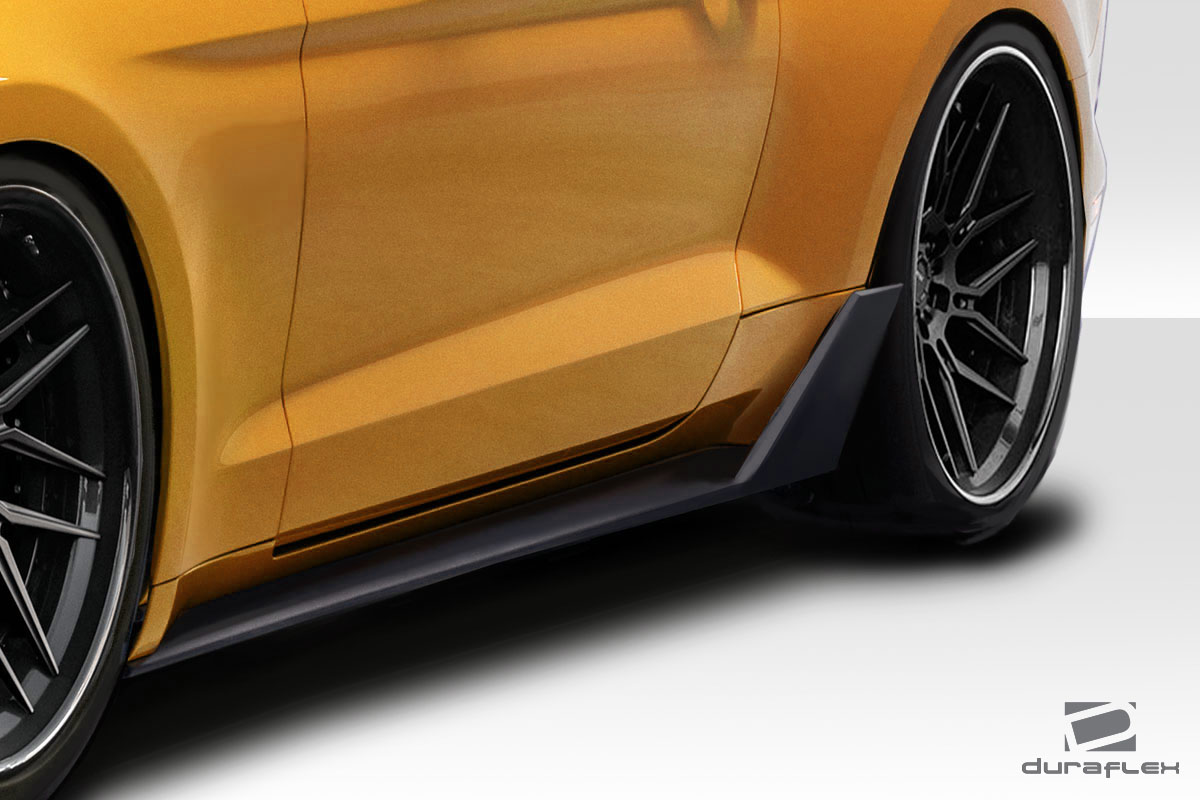 2017 Ford Mustang 0 Sideskirts Body Kit - 2015-2019 Ford Mustang Duraflex Grid V2 Side Skirts Rocker Panels - 2 Piece