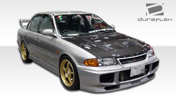 1993 1996 mitsubishi mirage 4dr duraflex evo front bumper cover 1 piece overstock