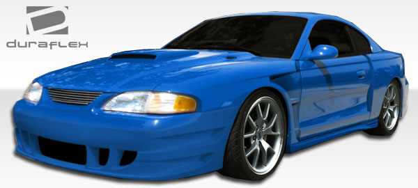 Duraflex GT500 Wide Body Side Skirts Rocker Panels 2 Piece for Mustang Ford