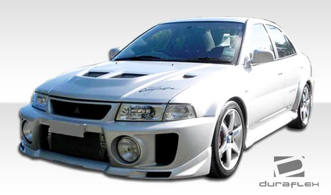 1997 2001 mitsubishi mirage 4dr duraflex evo 5 body kit 4 piece includes evo 5 front bumper cover 101885 evo 5 rear bumper cover 101886 evo 5 side