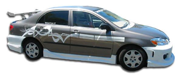 Duraflex Target Side Skirts 2 Piece for Corolla Toyota 03-08 ed/_114686