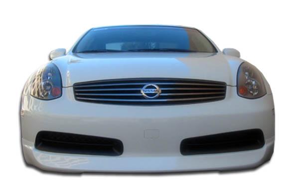 2007 Infiniti G Coupe 2DR - Polyurethane Front Lip/Add On Bodykit - Infiniti G Coupe G35 Polyurethane I-Spec Front Lip Under Spoiler Air Dam - 1 Piece