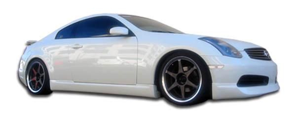 2007 Infiniti G Coupe 2DR - Polyurethane Sideskirts Bodykit - Infiniti G Coupe G35 Polyurethane I-Spec Side Skirts Rocker Panels - 2 Piece