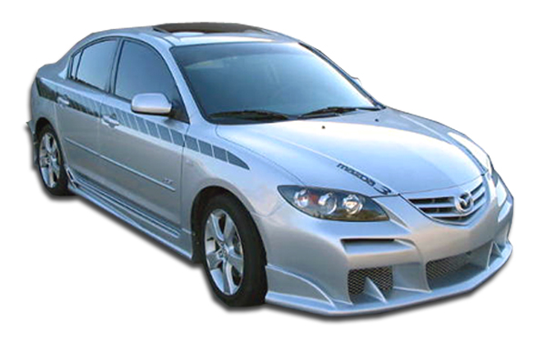 welcome to extreme dimensions    item group    2004-2008 mazda 3 4dr duraflex raven body kit