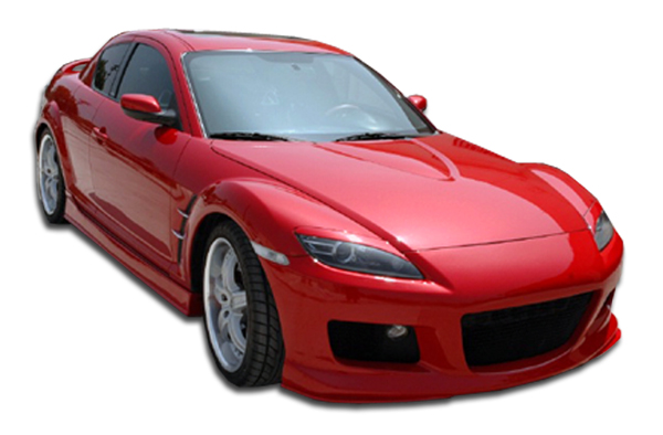Polyurethane Bodykit Bodykit for 2004 Mazda RX8 ALL - 2004-2008 Mazda RX-8 Polyurethane M-1 Speed Body Kit - 4 Piece - Includes M-1 Speed Front Bumper