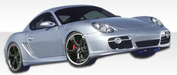 2005 Porsche Boxster ALL - Polyurethane Sideskirts Bodykit - 2005-2012 Porsche Boxster 2006-2011 Porsche Cayman Polyurethane T-Sport Side Skirts Rocke