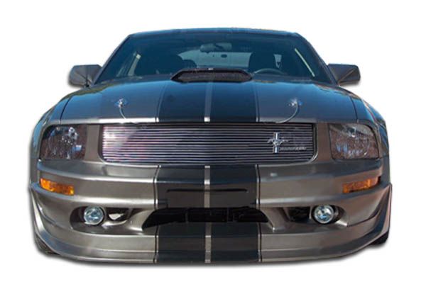 2005 Ford Mustang ALL - Polyurethane Front Bumper Bodykit - 2005-2009 Ford Mustang V8 Polyurethane Cobra R Front Bumper Cover - 1 Piece