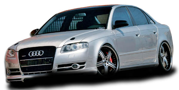 Polyurethane Bodykit Bodykit for 2006 Audi A4 ALL - 2006-2008 Audi A4 Couture A-Tech Body Kit - 4 Piece - Includes A-Tech Front Lip Under Spoiler Air