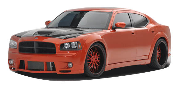 2010 Dodge Charger  Kit Body Kit - 2006-2010 Dodge Charger Couture Luxe Wide Body Kit - 10 Piece - Includes Couture Luxe Wide Body Front Bumper Cover (104812) Couture Luxe Wide Body Rear Bumper Cover (104814) Couture Luxe Wide Body Side Skirts Rocker Panels (104813) Couture Luxe Wide Body