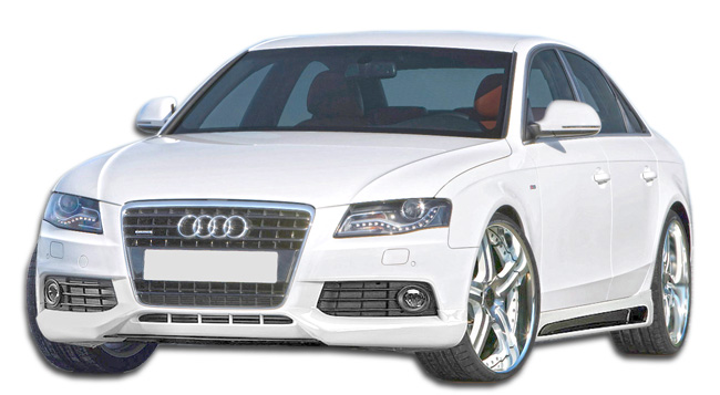 Plastic Body Kit Bodykit for 2012 Audi A4 4DR - Audi A4 4DR R-1 Body Kit - 4 Piece - Includes R-1 Front Lip Under Spoiler Air Dam (107419) R-1 Side