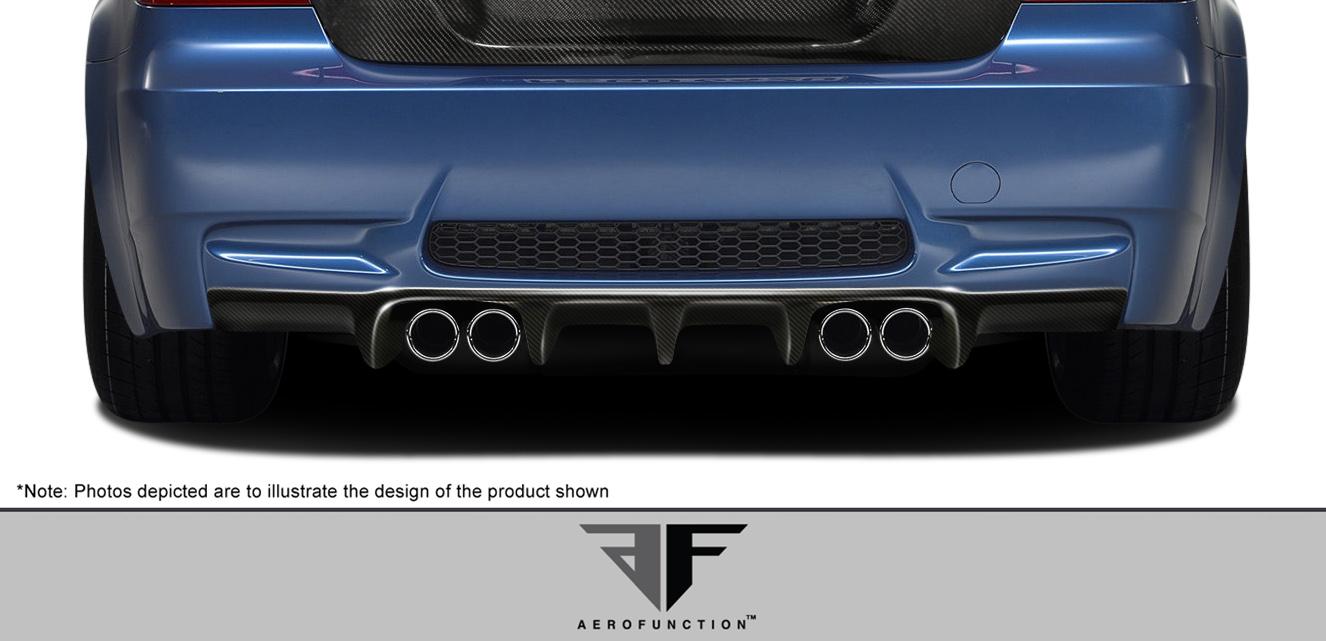 2007 BMW M3 2DR - Carbon Fiber Fibre Rear Lip/Add On Bodykit - 2007-2013 BMW M3 2DR Convertible E92 E93 AF-1 Rear Diffuser ( CFP ) - 1 Piece