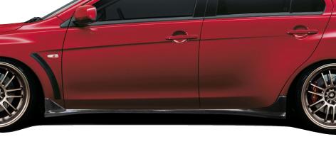 Sideskirts Bodykit for 2015 Mitsubishi Evolution ALL - Mitsubishi Lancer Evolution 10 Carbon Creations RS Look Side Skirt Splitters - 2 Piece