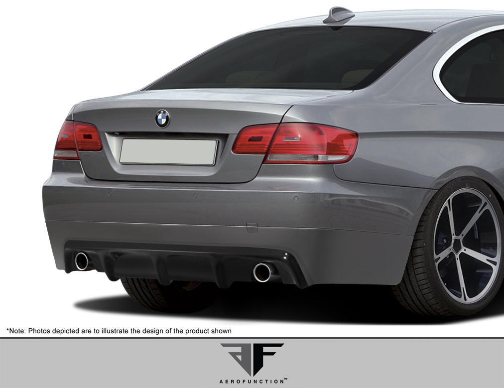 Extreme Dimensions 2007 2010 BMW 3 Series E92 E93 2DR AF 2 Rear Diffuser CFP