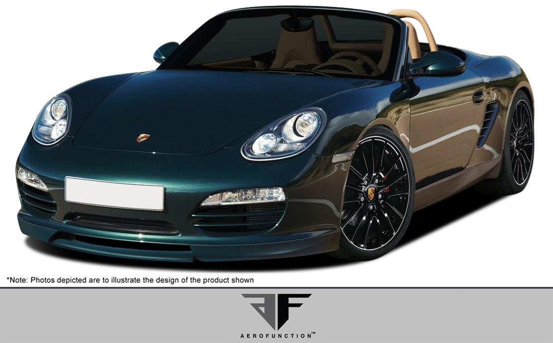 2009 Porsche Boxster ALL - Polyurethane Front Lip/Add On Bodykit - 2009-2012 Porsche Boxster AF-1 Front Add-On Spoiler ( PUR-RIM ) - 1 Piece