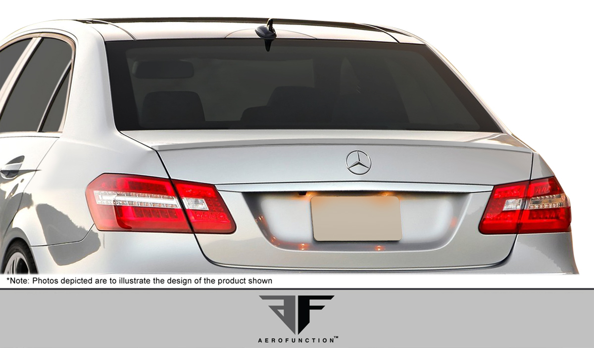 2015 Mercedes E Class 4DR - Polyurethane Wing Spoiler Bodykit - Mercedes E Class W212 AF-1 Trunk Spoiler ( PUR-RIM ) - 1 Piece