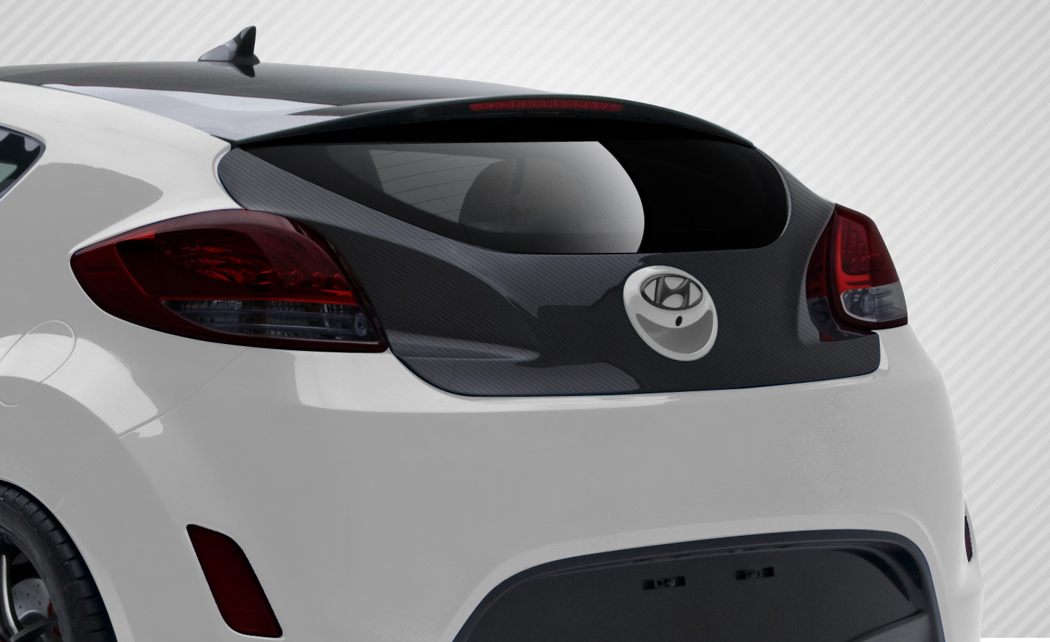 Trunk/Hatch Bodykit for 2016 Hyundai Veloster ALL - Hyundai Veloster Carbon Creations OEM Trunk - 1 Piece
