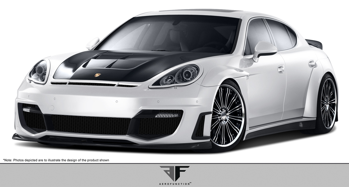 2010 Porsche Panamera ALL - Other Bodykit Bodykit - 2010-2013 Porsche Panamera AF-1 Wide Body Kit ( CFP PUR-RIM GFK ) - 28 Piece - Includes AF-1 Wide