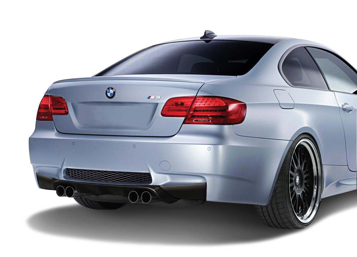 2008 bmw m3 2dr rear lip add on bodykit 2007 2013 bmw m3 e92 2dr af 2 rear diffuser cfp. Black Bedroom Furniture Sets. Home Design Ideas
