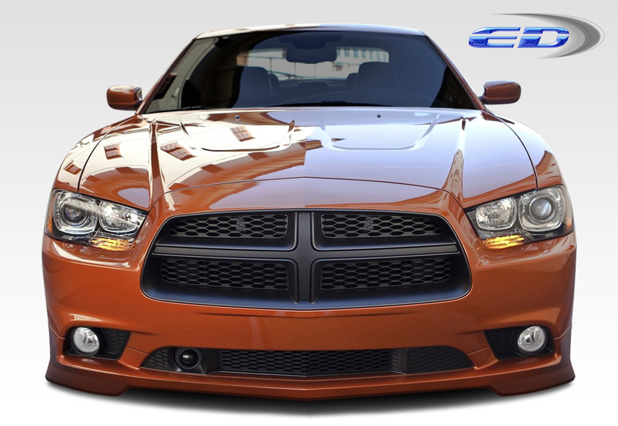 Polyurethane Front Lip/Add On Bodykit for 2011 Dodge Charger ALL - 2011-2014 Dodge Charger Polyurethane Diablo Front Lip Under Spoiler Air Dam (base m