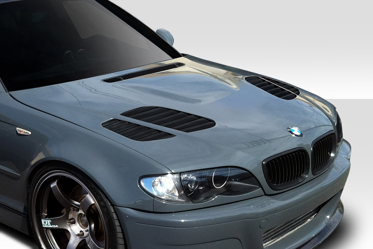 extreme dimensions 2002 2005 bmw 3 series e46 4dr duraflex gtr hood 1 piece wholesale car parts. Black Bedroom Furniture Sets. Home Design Ideas