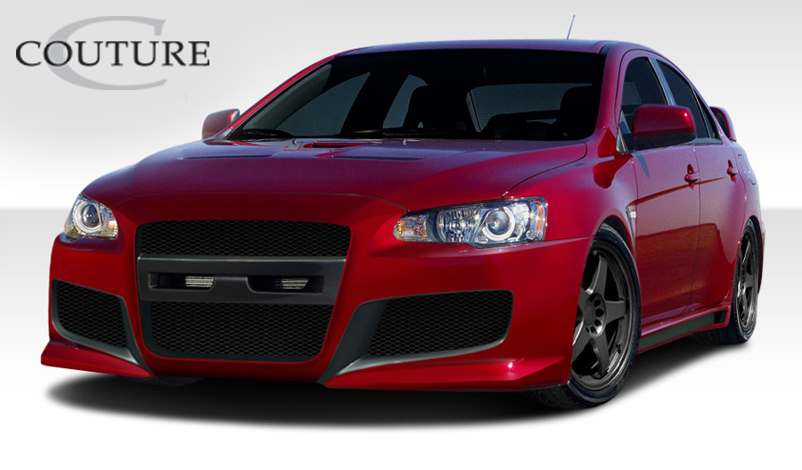 2015 Mitsubishi Evolution ALL - Polyurethane Body Kit Bodykit - Mitsubishi Lancer Evolution 10 Couture C-Speed Kit - 4 Piece - Includes C-Speed Front