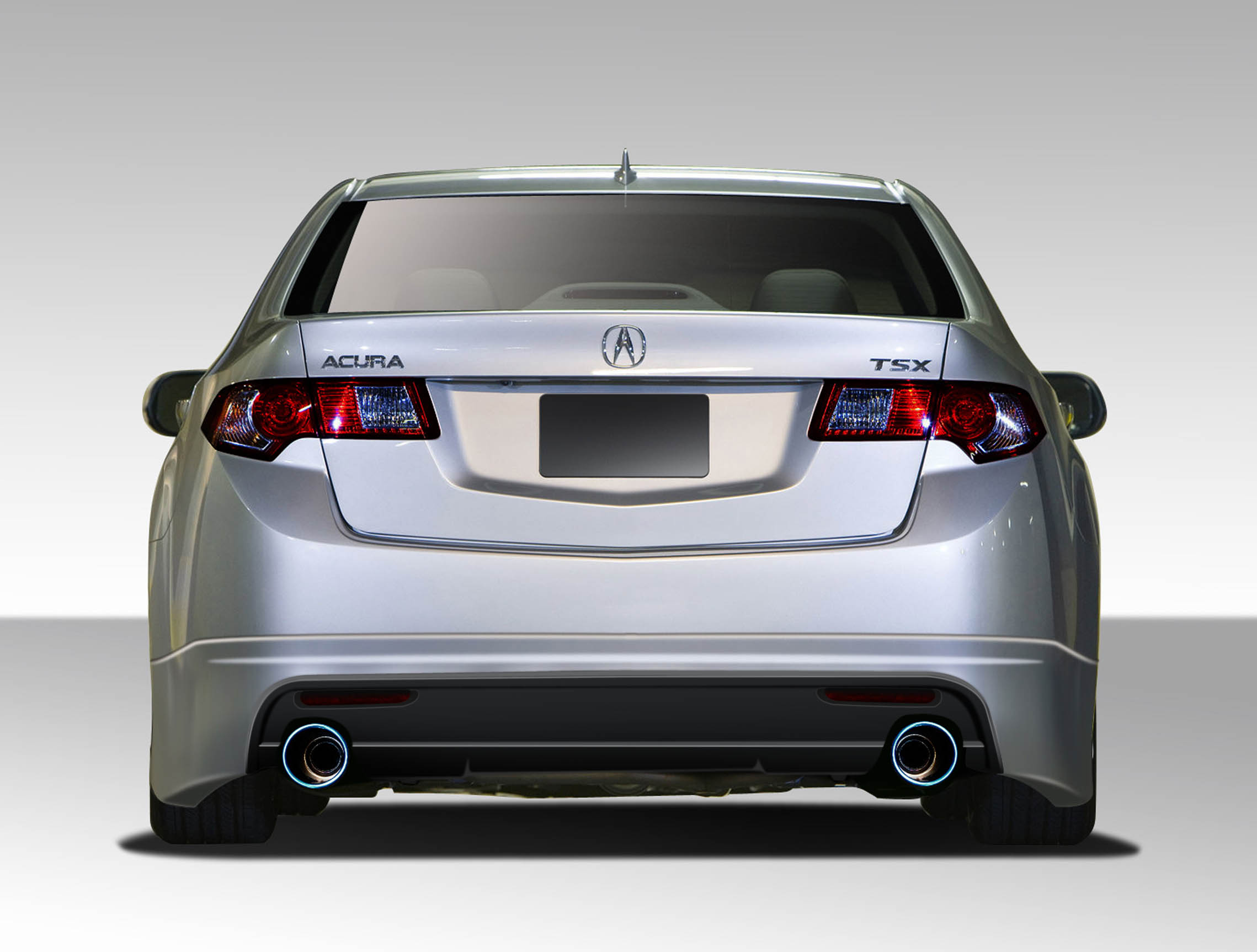 2009 2010 acura tsx duraflex type m rear lip under spoiler air dam