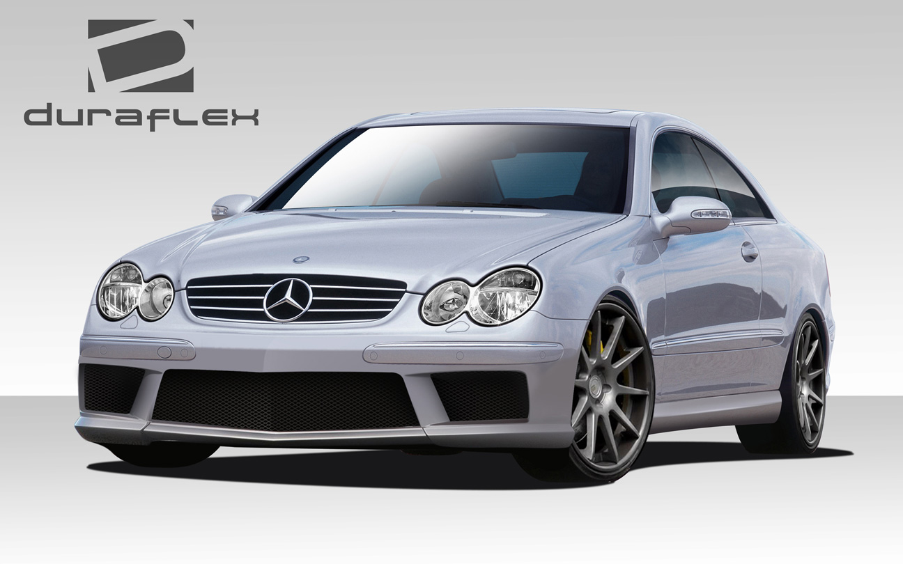 03 09 mercedes clk sl65 look duraflex full body kit for Mercedes benz clk black series body kit