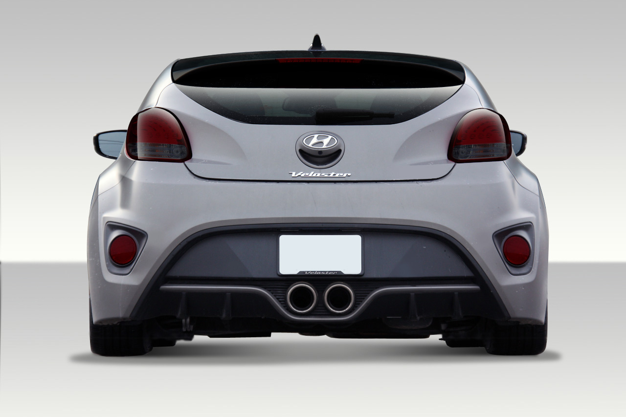 12 16 fits hyundai veloster turbo look duraflex rear body. Black Bedroom Furniture Sets. Home Design Ideas