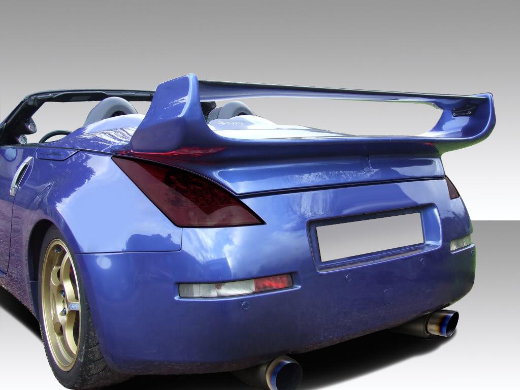 03 08 Fits Nissan 350z Convertible Vader 3 Duraflex Body