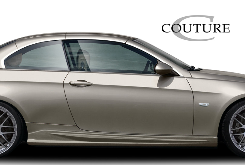 2007 BMW 3 Series 2DR - Polyurethane Sideskirts Bodykit - 2007-2013 BMW 3 Series E92 E93 Convertible 2DR Couture Vortex Side Skirt Rocker Panels - 2 P