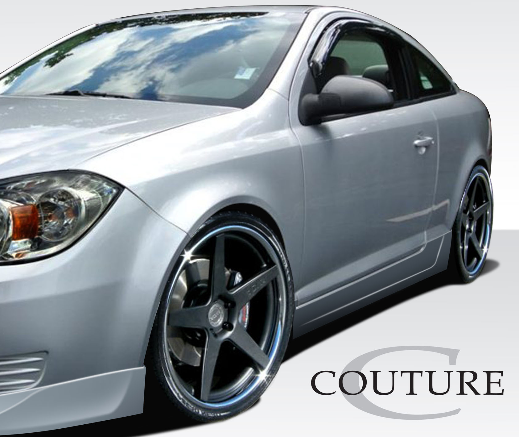 2005 Chevrolet Cobalt 2DR - Polyurethane Sideskirts Bodykit - 2005-2010 Chevrolet Cobalt 2DR Couture Vortex Side Skirt Rocker Panels (base model) - 2