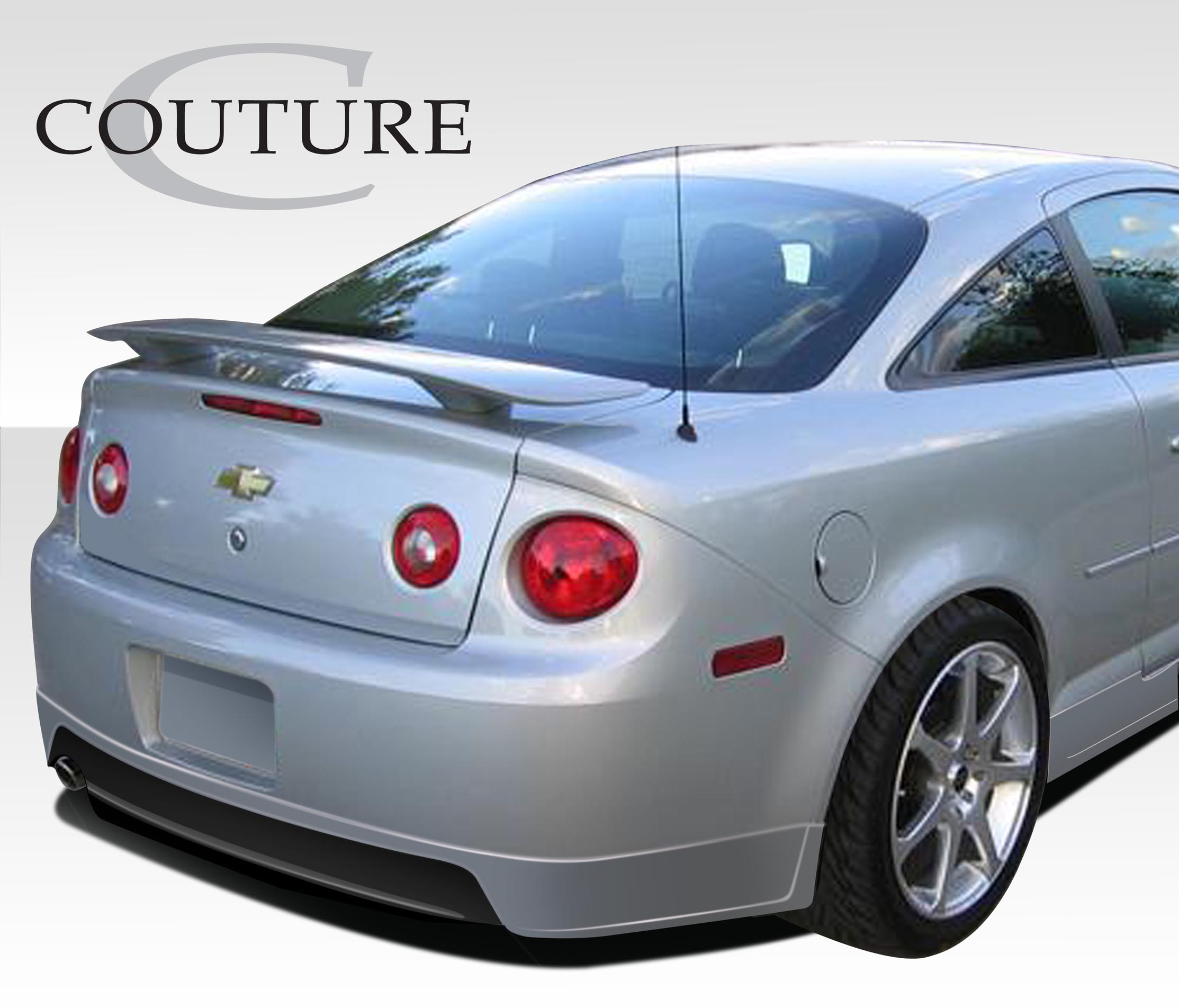 2005 Chevrolet Cobalt 2DR - Polyurethane Rear Lip/Add On Bodykit - 2005-2010 Chevrolet Cobalt 2DR Couture Vortex Rear Lip Under Spoiler Air Dam (base