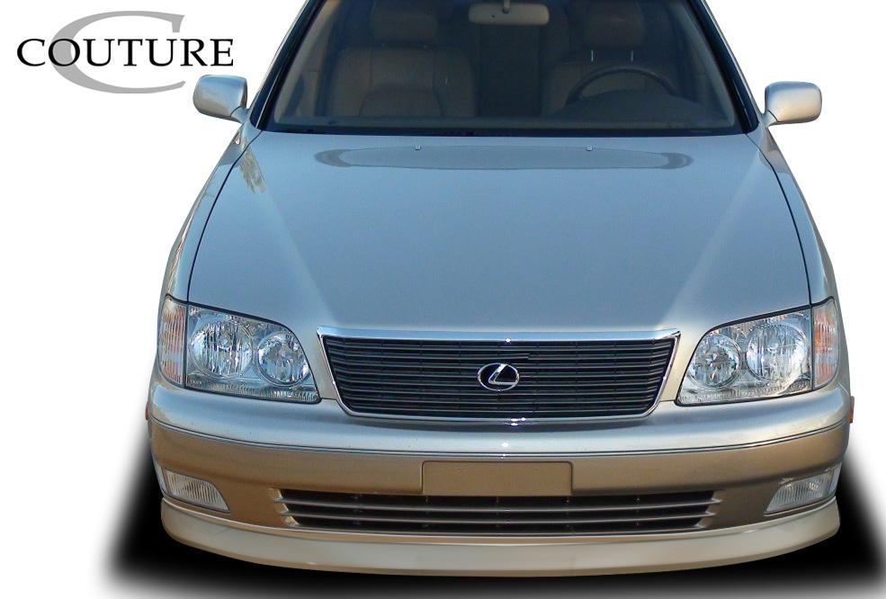 Polyurethane Front Lip/Add On Bodykit for 1998 Lexus LS - Lexus ALL - 1998-2000 Lexus LS Series LS400 Couture Vortex Front Lip Under Spoiler Air Dam -