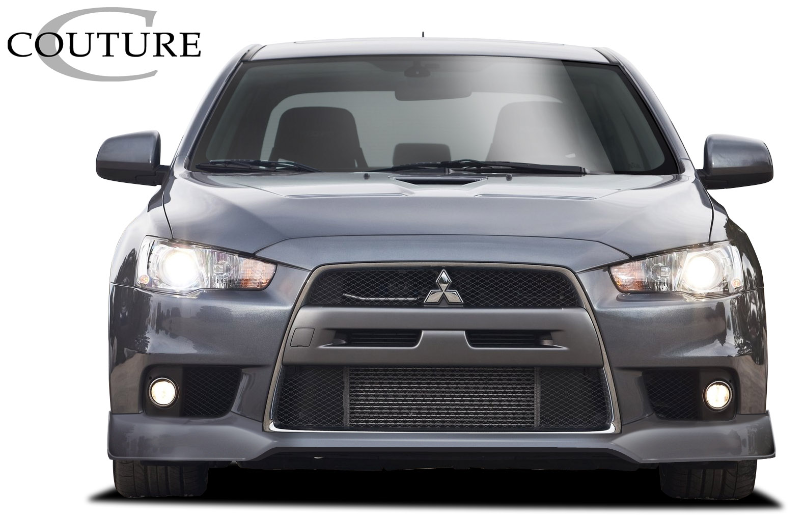 Front Lip/Add On Bodykit for 2015 Mitsubishi Evolution ALL - Mitsubishi Lancer Evolution 10 Couture Vortex Front Lip Under Spoiler Air Dam - 1 Piece