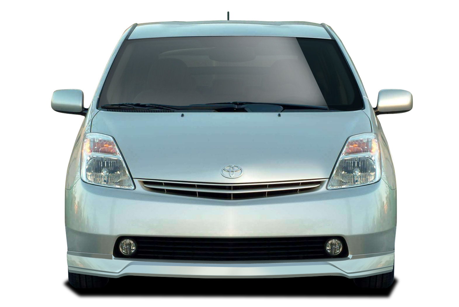 Polyurethane Front Lip/Add On Bodykit for 2004 Toyota Prius ALL - 2004-2009 Toyota Prius Couture Vortex Front Lip Under Spoiler Air Dam - 1 Piece