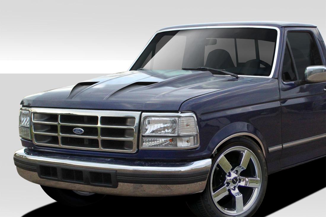 f150 ford hood bronco 1992 1996 150 96 92 body cowl kit cv duraflex 1pc trucks truck piece extreme dimensions