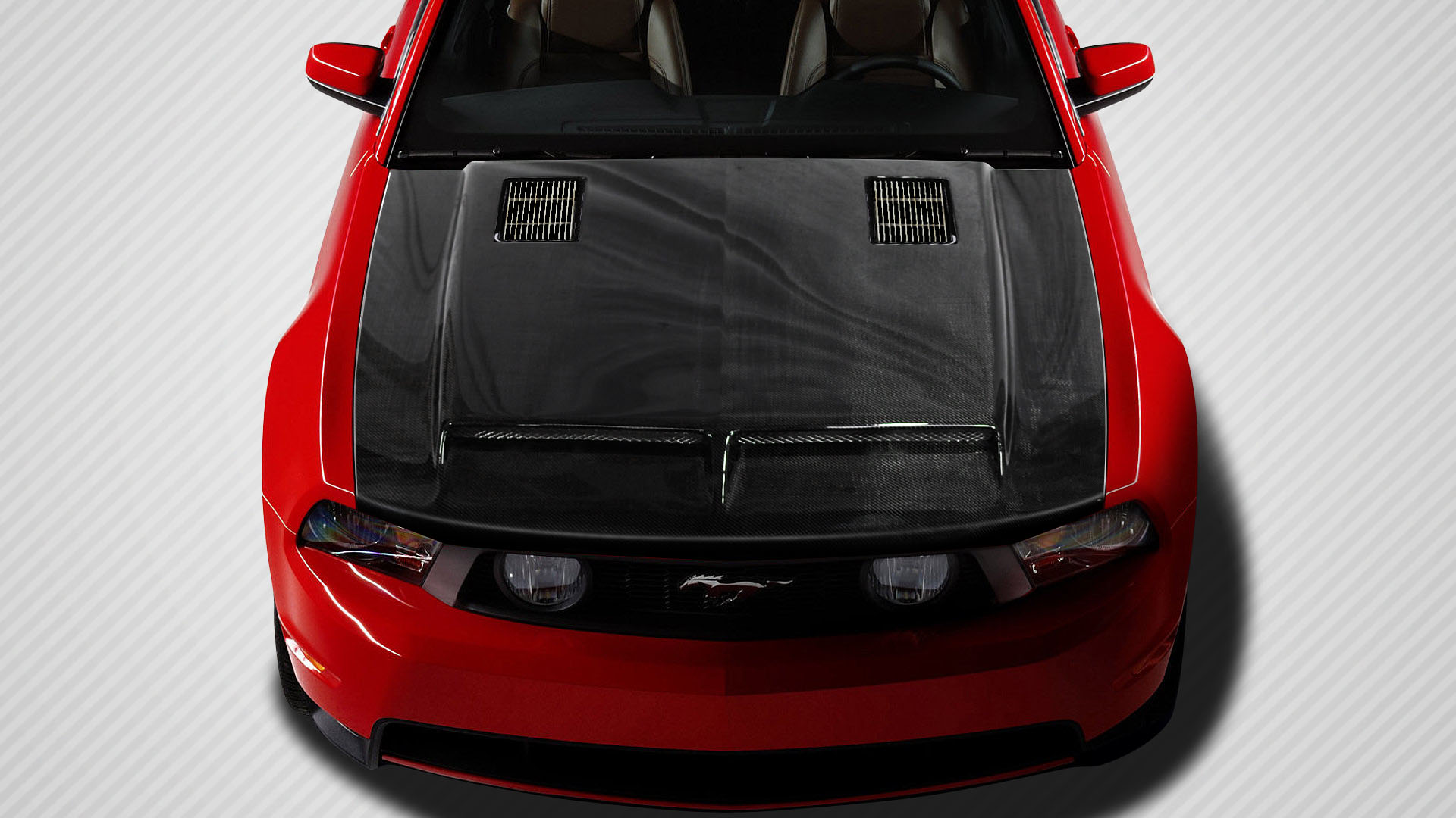 Image is loading 10 12 ford mustang gt500 carbon fiber creations