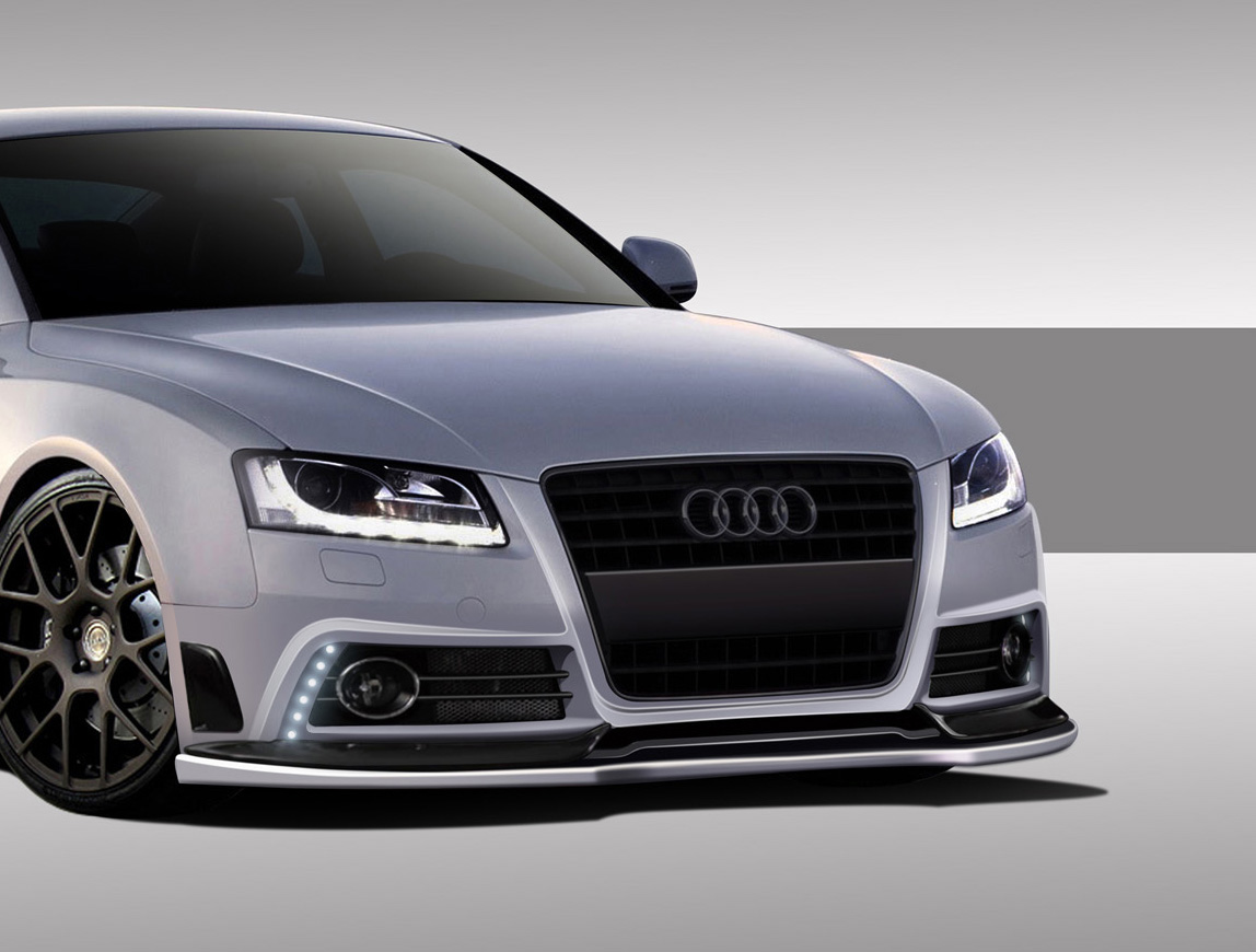 2008 2015 audi a5 s5 eros version 1 front bumper cover 1 piece body kit ebay. Black Bedroom Furniture Sets. Home Design Ideas