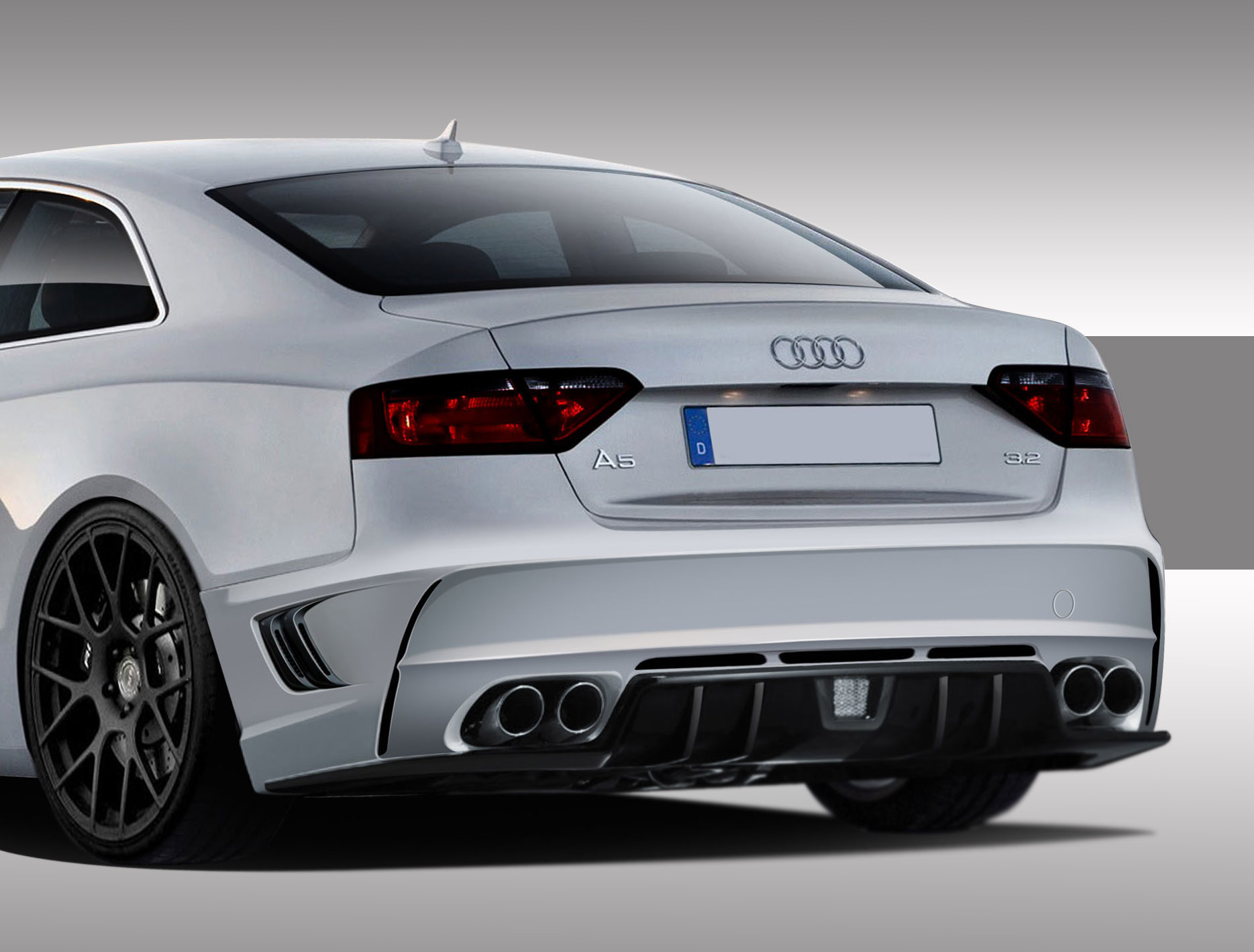 2008 2015 audi a5 s5 eros version 1 rear bumper cover 1. Black Bedroom Furniture Sets. Home Design Ideas