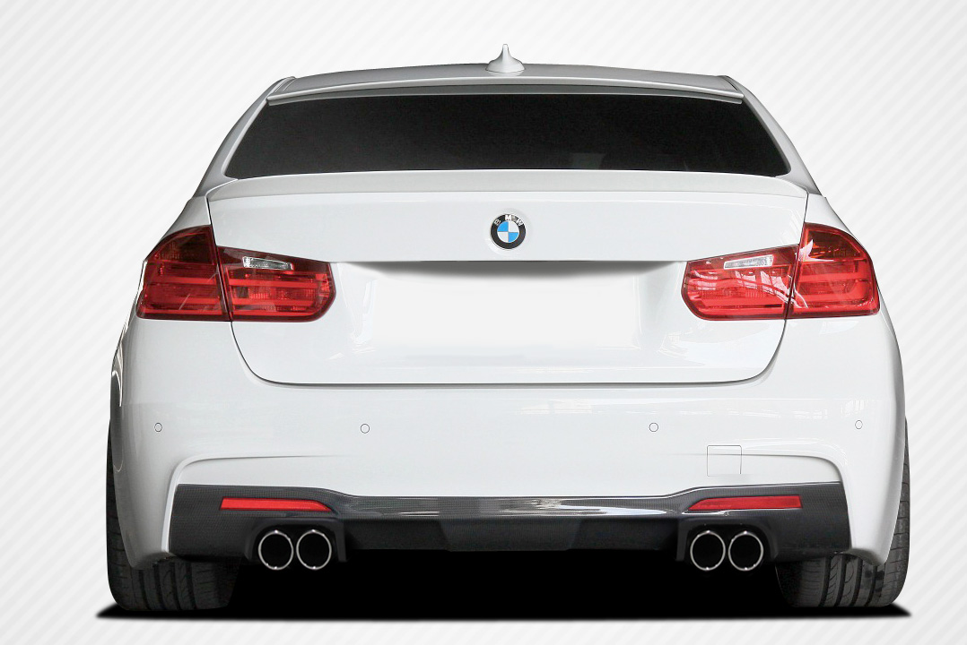 Rear Lip/Add On Bodykit for 2016 BMW 3 Series 4DR - BMW 3 Series M Sport 4DR F30 Carbon Creations Eros Version 1 Rear Diffuser - 1 Piece