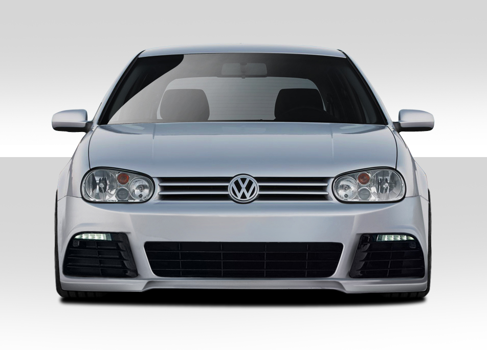 1999 2005 volkswagen golf gti duraflex r look front bumper 1 piece body kit ebay. Black Bedroom Furniture Sets. Home Design Ideas
