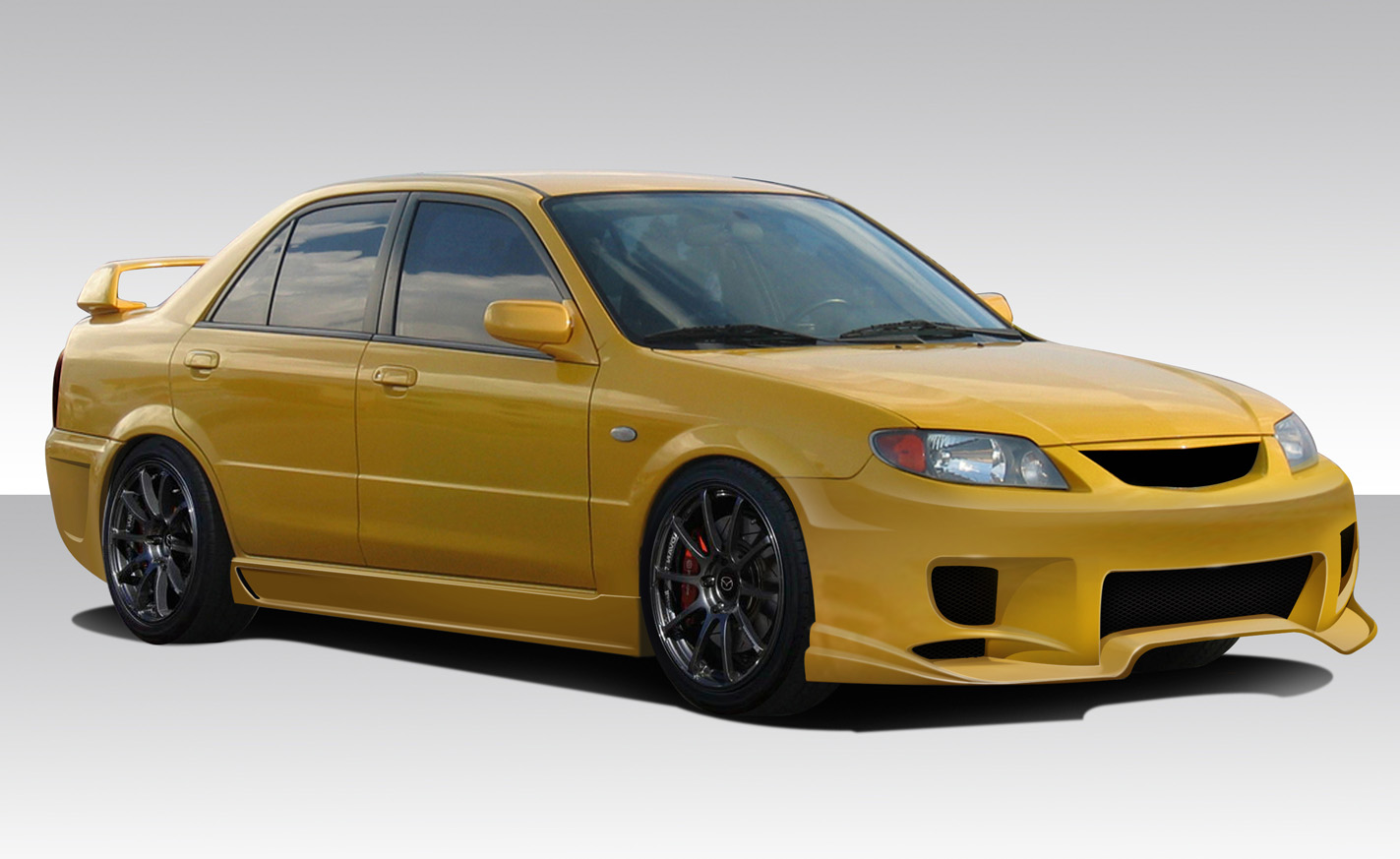 01 03 mazda protege aggressive duraflex full body kit. Black Bedroom Furniture Sets. Home Design Ideas