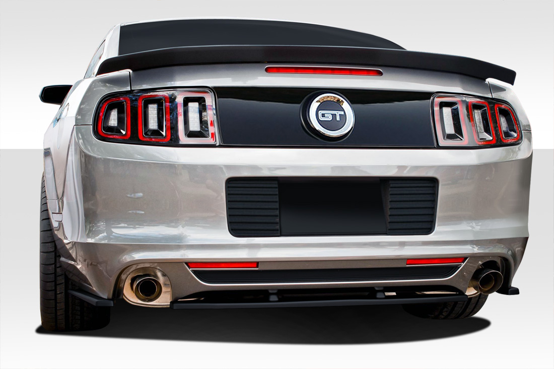 Welcome to extreme dimensions inventory item 2013 2014 ford mustang duraflex r500 rear splitter 3 piece