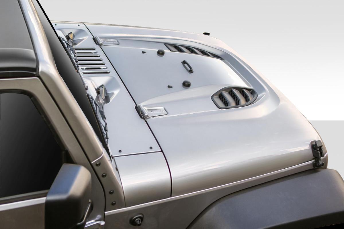 07 17 Jeep Wrangler Power Dome Duraflex Body Kit Hood