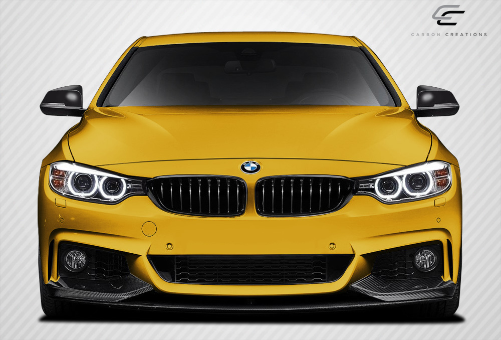 Front Lip/Add On Bodykit for 2016 BMW 4 Series ALL - BMW 4 Series F32 Carbon Creations M Performance Look Front Spoiler Splitters - 3 Piece