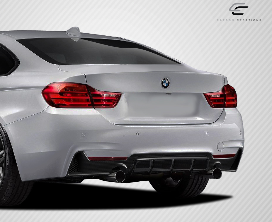 2016 BMW 4 Series ALL - Carbon Fiber Fibre Rear Lip/Add On Bodykit - BMW 4 Series F32 Carbon Creations M Performance Look Rear Diffuser - 1 Piece