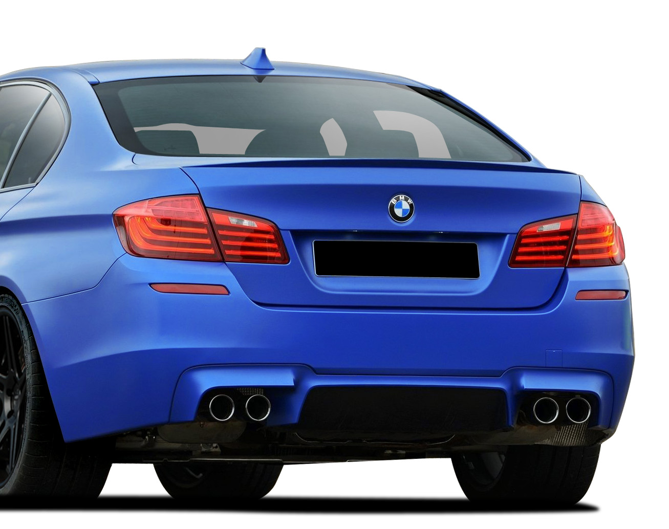 2015 BMW 5 Series 4DR - Polypropylene Rear Bumper Bodykit - BMW 5 Series F10 4DR Vaero M5 Look Rear Bumper Cover ( without PDC ) - 1 Piece