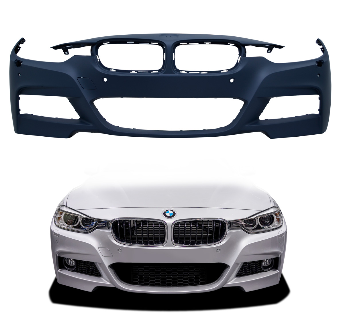 Bmw 1 Series M Sport 12-15 Rear Bumper With Pdc