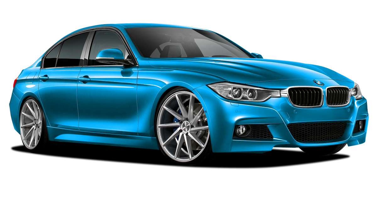 Polypropylene Body Kit Bodykit for 2015 BMW 3 Series ALL - BMW 3 Series 328i F30 with Quad Exhaust Vaero M Sport Look Kit ( with PDC , with Park Aid ,